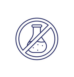 Chemical free line icon vector