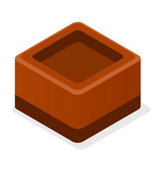 Choco truffle icon isometric style vector