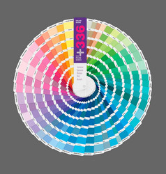 Circular color palette guide for print guide vector