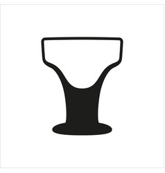 Cocktail margarita glass simple monochrome vector