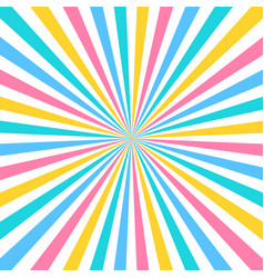 colorful sun rays background in flat design vector image