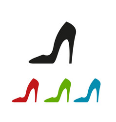 colour heels icon vector image