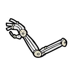 Comic cartoon robot arm vector