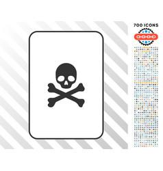 death card with bonus vector image