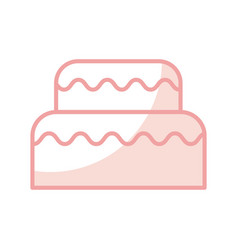 Delicious birthday cake icon vector
