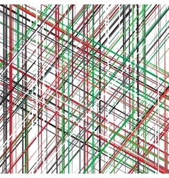Diagonal red green black white overlapping vector