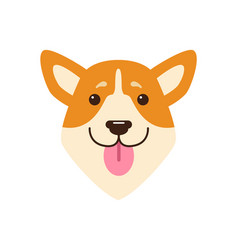 Dogs head with pink tongue vector
