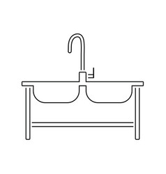 Double sink icon vector