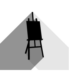 Easel sign black icon with two flat gray vector