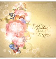 Easter floral background vector