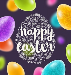 Easter multicolored greeting card vector
