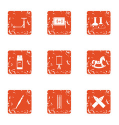 Evaluation icons set grunge style vector