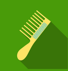 fashion equipment of hairbrush for hair of comb vector image