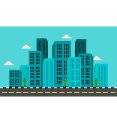Flat of city landscape vector