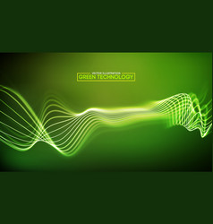 green technology background big data cyber vector image