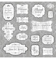 Grunge label vector