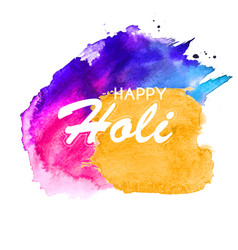 Happy holi abstract colorful backgrou vector