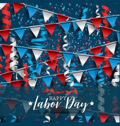 happy labor day usa national holiday vector image