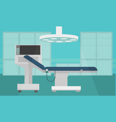 hospital room interior intensive therapy flat vector image