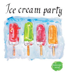 ice cream party vector image