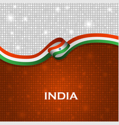 India flag ribbon shiny particle style vector