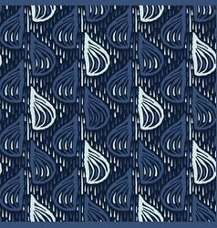 Indigo blue drops pattern japanese style seamless vector