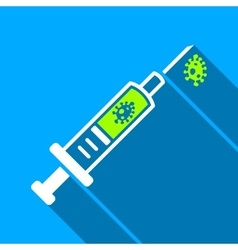 Infection Injection Flat Long Shadow Square Icon vector