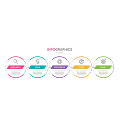 infographic design with icons and 5 options or vector image