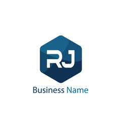 Initial letter rj logo template design vector