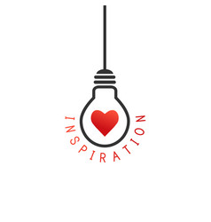 Inspiration concept with lightbulb vector