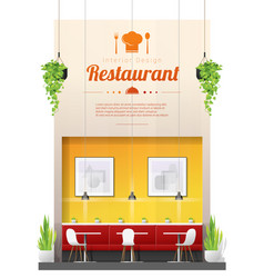 interior background modern restaurant vector image