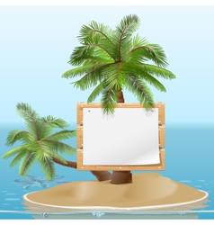 Island with Signboard vector image