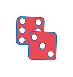 Isolated dice design vector