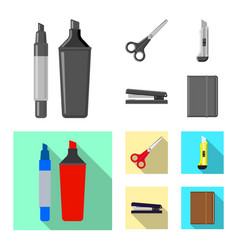 Isolated object of office and supply logo set of vector