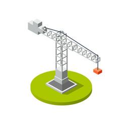 Isometric crane industry vector