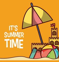 Its summer time cartoon card vector