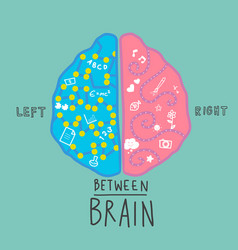 left and right brain infographic vector image