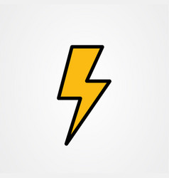 Lightning storm thunder icon logo design vector