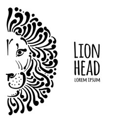 lion face logo sketch for your design vector image