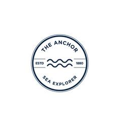 Marine retro emblems logo anchor logo vector