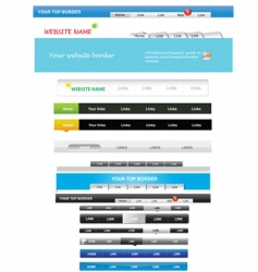 menus vector image