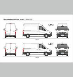Mercedes sprinter cargo van l1h1 and l1h2 2017 vector