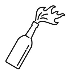 Molotov cocktail icon outline style vector