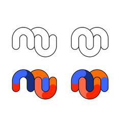 mu logo monogram vector image
