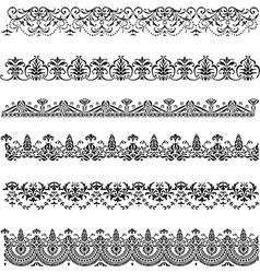 Old border designs set vector image