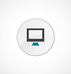 pc icon 2 colored vector image