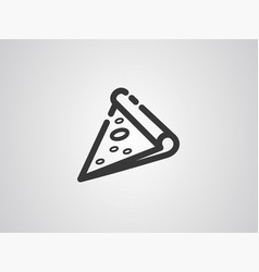 pizza icon sign symbol vector image