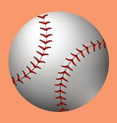 Plain baseball on orange background vector image