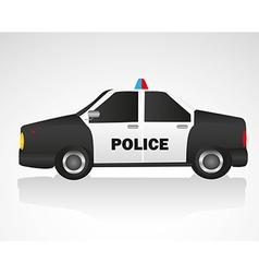 Police car isolated on white background vector