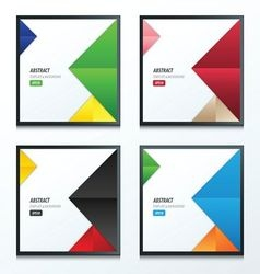 pyramid design template 3 color set vector image